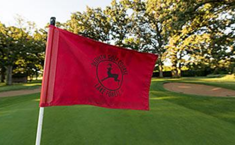 A Deerpath Golf Course flag