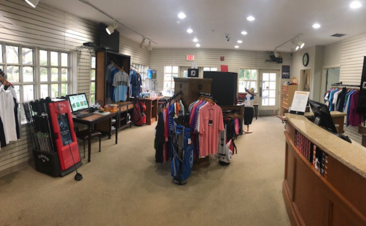 Interior shot of the pro shop at Deerpath Golf Course