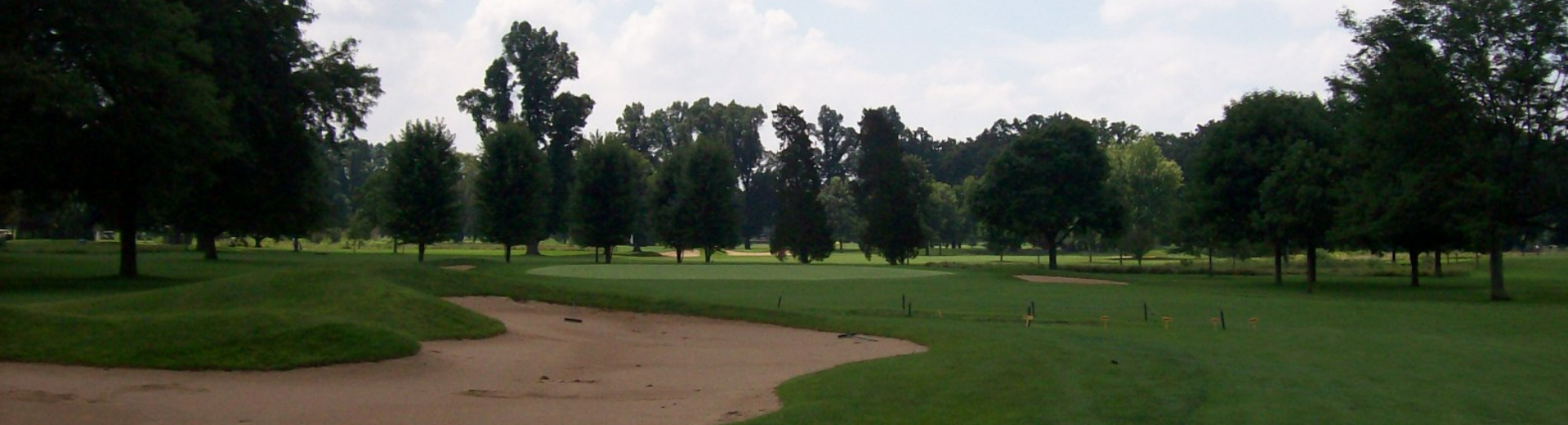 View of a sand trap on the course at Deerpath Golf Course